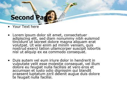 Sunshine Girl PowerPoint Template, Slide 2, 05989, People — PoweredTemplate.com