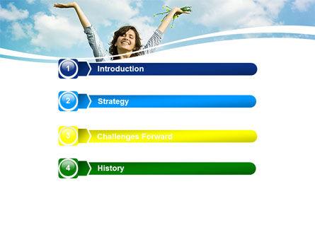 Sunshine Girl PowerPoint Template, Slide 3, 05989, People — PoweredTemplate.com