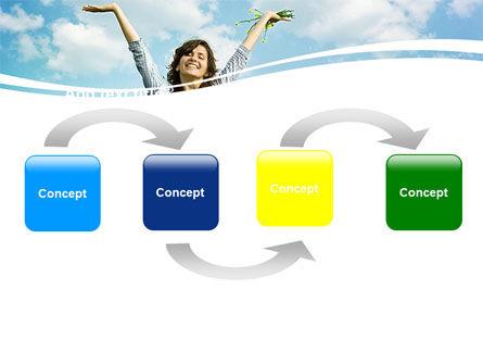 Sunshine Girl PowerPoint Template, Slide 4, 05989, People — PoweredTemplate.com