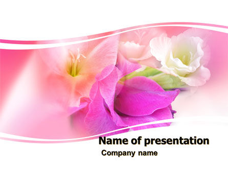 Holiday/Special Occasion: Summer Flowers PowerPoint Template #05990