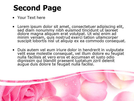 Rose Petal PowerPoint Template Slide 2