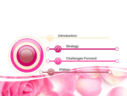 Rose Petal PowerPoint Template, Slide 3, 05993, Holiday/Special Occasion — PoweredTemplate.com