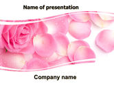 Holiday/Special Occasion: Rose Petal PowerPoint Template #05993
