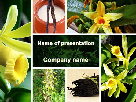 Yellow Flowers PowerPoint Template, 05995, Nature & Environment — PoweredTemplate.com