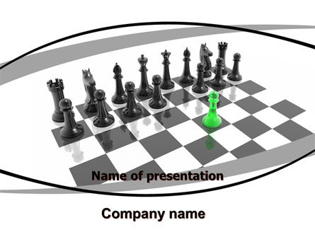 Chess Passed Pawn PowerPoint Template, 05996, Business Concepts — PoweredTemplate.com