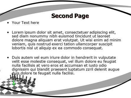 Chess Passed Pawn PowerPoint Template, Slide 2, 05996, Business Concepts — PoweredTemplate.com