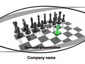 Business Concepts: Chess Passed Pawn PowerPoint Template #05996