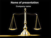 Legal: Justice Symbol PowerPoint Template #05997