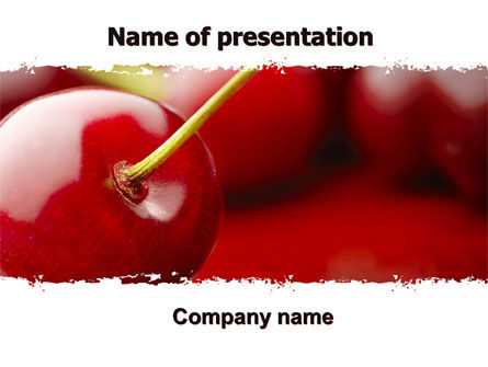 Agriculture: Cherry PowerPoint Template #05999