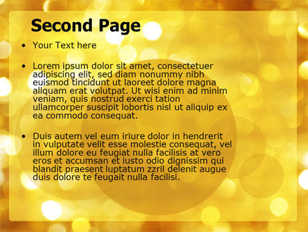 Yellow PowerPoint Template Slide 2