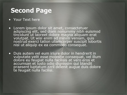 Brushed Stainless Steel PowerPoint Template Slide 2