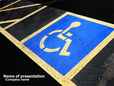 Medical: Handicapped Persons Policy PowerPoint Template #06002