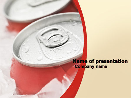 Food & Beverage: Soda Cans PowerPoint Template #06003