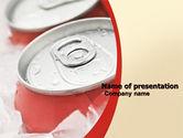 Food & Beverage: Modelo do PowerPoint - latas de refrigerante #06003