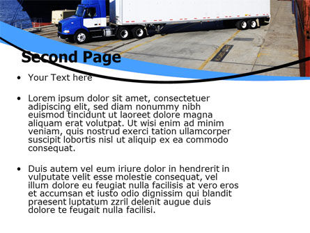 Seaport PowerPoint Template, Slide 2, 06007, Cars and Transportation — PoweredTemplate.com