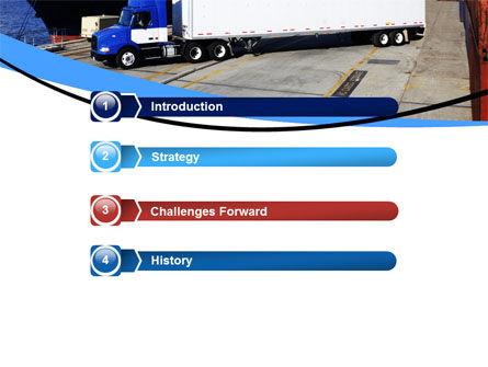 Seaport PowerPoint Template, Slide 3, 06007, Cars and Transportation — PoweredTemplate.com