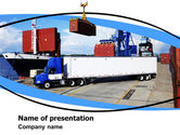 Cars and Transportation: Seaport PowerPoint Template #06007