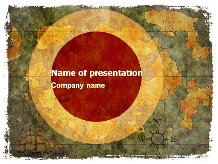 Ancient Map PowerPoint Template, 06009, Global — PoweredTemplate.com