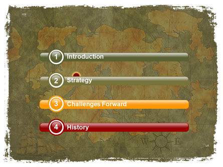 Ancient Map PowerPoint Template, Slide 3, 06009, Global — PoweredTemplate.com