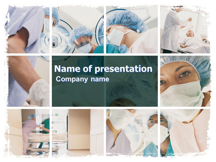 Medical: Surgery Room PowerPoint Template #06011