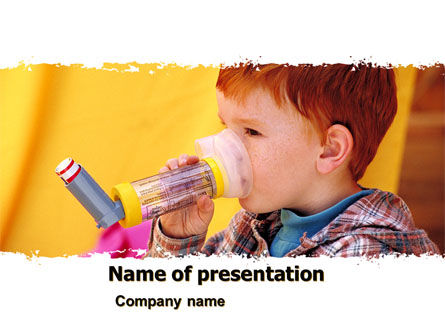 Aerosol Therapy PowerPoint Template, 06012, Medical — PoweredTemplate.com