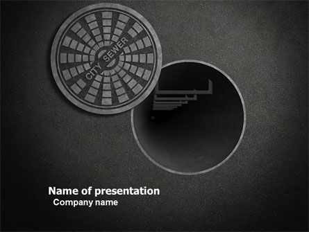 Careers/Industry: City Sewer PowerPoint Template #06013