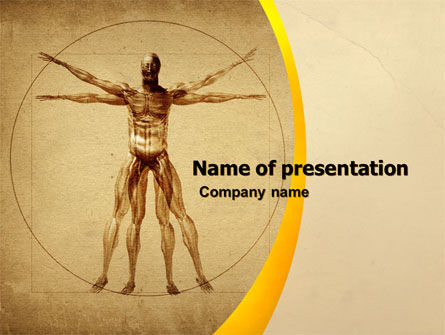 Vitruvian Man PowerPoint Template, 06014, Medical — PoweredTemplate.com