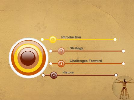 Vitruvian Man PowerPoint Template, Slide 3, 06014, Medical — PoweredTemplate.com