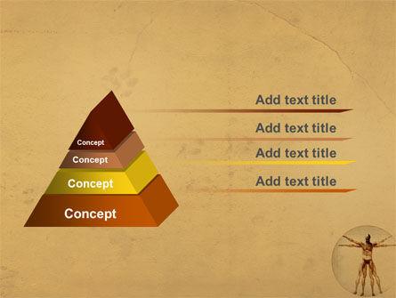 Vitruvian Man PowerPoint Template, Slide 4, 06014, Medical — PoweredTemplate.com
