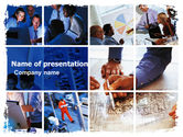 Business: Group of Constructors PowerPoint Template #06015