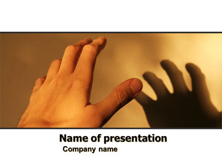 Reaching Hand PowerPoint Template, 06017, Medical — PoweredTemplate.com