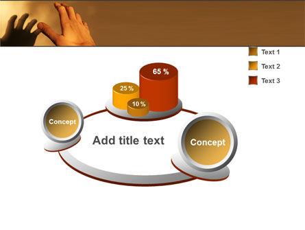 Reaching Hand PowerPoint Template Slide 6