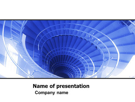 Free Winding Stair PowerPoint Template