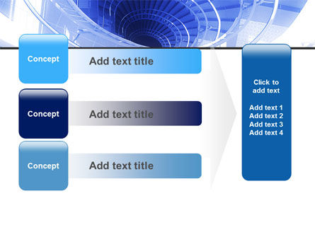 Free Winding Stair PowerPoint Template Slide 12