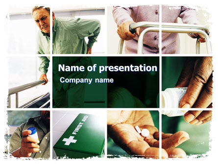 Rheumatism PowerPoint Template, 06020, Medical — PoweredTemplate.com