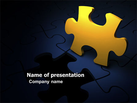 Yellow Puzzle PowerPoint Template