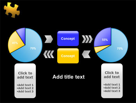 Yellow Puzzle PowerPoint Template Slide 11