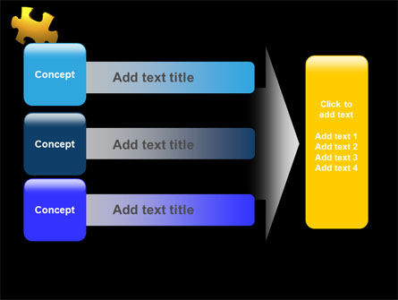 Yellow Puzzle PowerPoint Template Slide 12