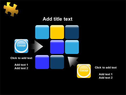 Yellow Puzzle PowerPoint Template Slide 16