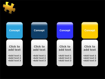 Yellow Puzzle PowerPoint Template Slide 5
