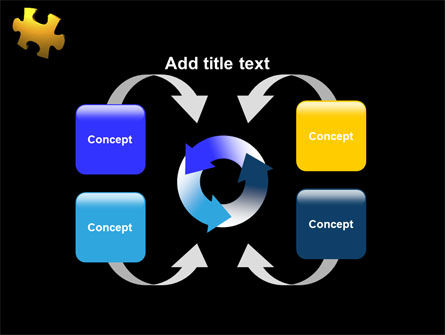 Yellow Puzzle PowerPoint Template Slide 6