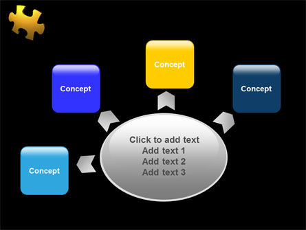 Yellow Puzzle PowerPoint Template Slide 7