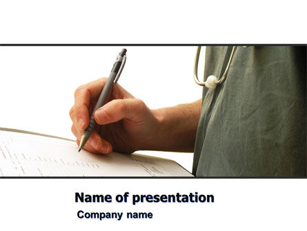 Medical: Manual Medical Record PowerPoint Template #06023