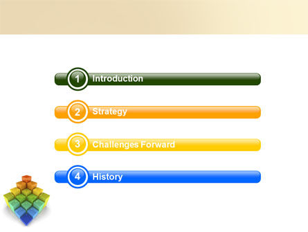 Terraced Stages PowerPoint Template Slide 3