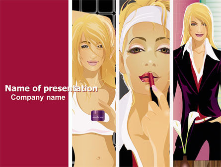 Careers/Industry: Haute Couture PowerPoint Template #06025