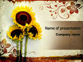 Nature & Environment: Blooming Sunflowers PowerPoint Template #06026