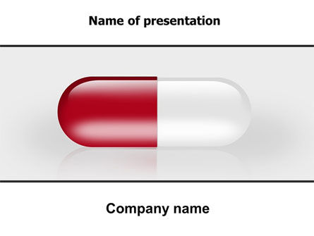 Medical: Red Pill PowerPoint Template #06029