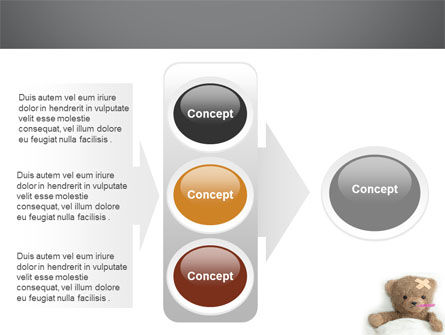 Wounded Teddy Bear PowerPoint Template Slide 11