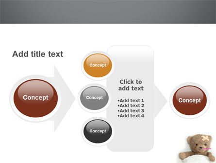 Wounded Teddy Bear PowerPoint Template Slide 17