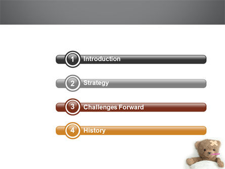 Wounded Teddy Bear PowerPoint Template, Slide 3, 06030, Medical — PoweredTemplate.com